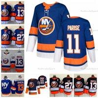 2021 Reverse Retro 뉴욕 야 섬 하키 유니폼 11 Zach Parise 13 Mathew Barzal 27 Anders Lee Home Royal Blue Stitched Jersey C Patch