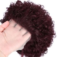 Lace Wigs Pixie Cut Wig Ombre 99J Red Short Wet And Wavy Wave For Women Water Curly Human Hair