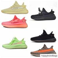 GID GLOW Gerçek Form Kanye West 3 M Siyah Yansıtıcı Statik Kil Zebra Krem Beyaz Beluga 2 .0 Bred Koşu Ayakkabıları Tasarımcı Sneakers 5 -13