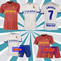 Männer Kinder 2020 2021 echtes Zaragoza Shinji Kagawa Fussball Jersey 20 21 Home Zapater Fußball Hemd Vazquez Pombo Away Camiseta de Futbol