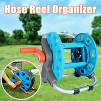 Watering Equipments Portable Garden Hoses Reel Organizer 20M Max Pipe PP+Alloy Storage Cart Exclude Winding Tool Rack For Outdoor Yard