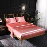 Hojas de seda de la cubierta del edredón de alta calidad Hojas de cama de cuatro piezas Conjuntos de cama 9 colores en venta Conjuntos de edredón 470 V2