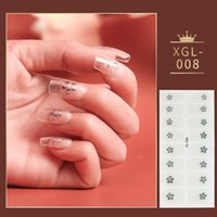 1Pcs Glitter Gradient Color Nail Stickers French Full Wraps ...