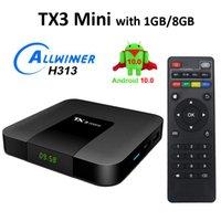 TX3 MINI Smart TV Box Allwinner H313 2.4G WIFI Android 10 1G + 8G 4K HD 1.5GHz Set-Top TVBOX 2.4GHz Lecteur multimédia