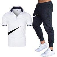 Männer Trainingsanzüge Kurze Ärmeln mit Hosenuit-Polo-Shirt Europe America Großhandel Anpassung verschiedener Logo personalisierte Symbole