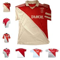 1977/1982 94 95 96 97 Versão Retro Monaco Ben Idder Jersey 91 92 Home Dalger Vintage 96-97 Como Jovetic Golovin Flocage Jorge Men Kids Football Shirt