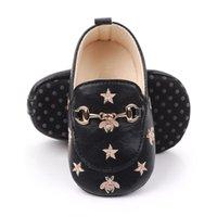2021 детские кожаные кроссовки 0-12 м с пчелами звезды первые ходунки сапоги кроватки детские дизайнерские туфли детские повседневные тапочки малыши мягкие подошвы скольжения