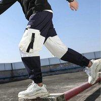 Хип-хоп Мальчик Мульти-карманный эластичный дизайн талии дизайн гарема трусики мужчины уличная одежда панк повседневная брюки джоггер мужские спортивные штаны модные мужские брюки