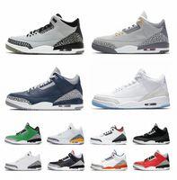 2021 الرجال 3 أحذية كرة السلة جورج تاون 3 ثانية ung jumpman المدربين للرجال شظية نيكس مناديل الرجعية الدينيم النار الأحمر الثالث الرياضية حذاء J94C #