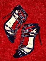 Famoso Design Verão Renee Sandálias Fundo Red Bottom Woman Senhora Luxo Luxo PVC Couro De Couro Gladiador Bombas Lindamente Party Wedding EU35-43