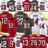 12 Tom Brady Jersey 87 Rob Gronkowski 70 روبرت هينسي 2 كايل تراسك 9 جو Tryon 13 مايك إيفانز كريس جودوين ترافيس كلايد إدواردز هيلير تيران ماثيو