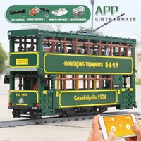 Motorized 1904 Hongkong Tramways Bus Model Building Blocks MOULD KING KB120 APP MOC Car Brick Children Education Christmas Gifts Birthday Toys For Kids