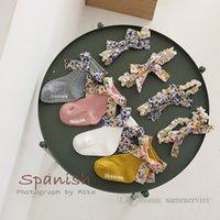 Ins Bebek Kız Çiçek Baskılı Yaylar Kısa Çorap Yürüyor Çocuklar Pamuk Örme Kaymaz Zemin Çorap + Dantel Hollow Nakış Elastik Ilmek Bantlar 2 adet Setleri Q0540