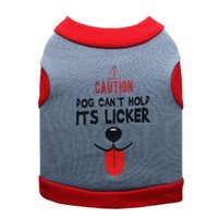 Dog Apparel Letter Pet Clothing Cartoon Clothes For Dogs Vest Small Costume Tongue Print Cute Autumn Winter Boy Casual Fun Collar Perro