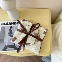 Blankets & Swaddling Blanket + Towel Set Fashion Korean Cartoon Organic Cotton Born Muslin Baby Carriage Sack Swaddle Stuff Bedding
