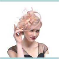 Asoresen, Party EventsBridal Feder Fascinator Hand Made Bridal Birdcage Schleier Hut Hüte Fascinatoren Femin Haar Blumen für Hochzeit Qeyne