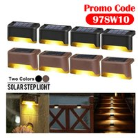 LED Solar Lamp Path Stair Outdoor Waterproof Wall Garden Landscape Step Deck Lights Balcony Fence