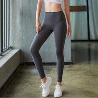 Lu Yoga calças calças de compressão ginásio quadris altos cintura braço força rápido exercício euka cor sólida mulheres calças de yoga