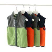 Vest en molleton pour enfants épaissie Spring Automne Hiver Garçons Manteau Porter Veste pour enfants P2 93 Gilet