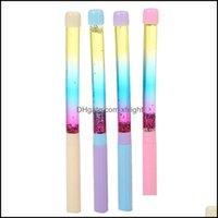 Gel Writing Supplies Business & Industrialgel Pens 20Pcs 0.38Mm Bling Glitter Dynamic Liquid Quicksand Pen Present Stationery Ballpen Office