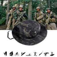 Wide Brim Hats Camouflage Tactical Cap Military Boonie Hat US Army Caps Camo Men Outdoor Sports Sun Bucket Fishing Hiking Hunting