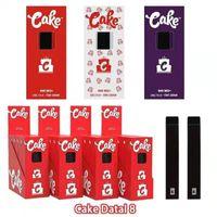 Cake Delta 8 Disposable Device Kit 1 Gram 1.0ml Empty E cigarettes Thick Oil Cartridge Rechargable 280mAh Battery Vape Pen Puff Plus