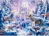 Quebra-cabeça Puzzle 1000 peças Puzzles Presente para adulto e crianças educacional desafiador brinquedo paisagem imagem lobo na floresta