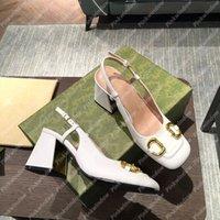Damen Sandalen Frauen Pumps Mid-Heel Slingback Horsebit Sandale Luxurys Designer Schuhe Heels Sandales Espadrilles Womens Espadrille 2103311L