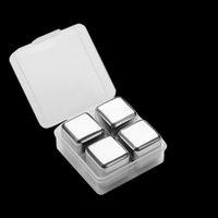 304 из нержавеющей стали ледяной вино каменные пищевые классы виски, охлаждающие камни Cubes со льдом Тонг Домашняя вечеринка Barware Coolers Drop Ship 510 S2