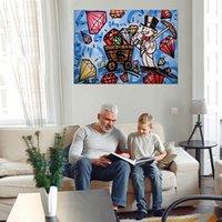 Diamanten Riesiges Ölgemälde auf Leinwand Wohnkultur Handgemalt HD Print Wandkunstbilder Anpassung ist akzeptabel 21052431