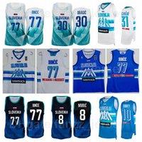 Équipe nationale 2020-2021 Jersey Basketball Jersey de basketball Slovénie Luka Doncic 77 30 Goran Dragic 11 Jaka Blazic 8 Edo Muric 7 Klemen Prépelic 5 Rupnik Summer Man Femmes