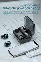 M10 TWS Bluetooth Kulaklık Kablosuz Kulaklıklar Stereo Spor Oyun Kulaklık Dokunmatik Mini Kulakiçi 2000mAh LED Ekran Testi ile Su Geçirmez