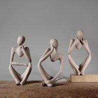 Objets décoratifs Figurines Un penseur Figure Ornements Vaisselle Décoration Maison Decor de bureau Decor de bureaux 13 * 10 * 24cm