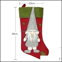 Decorations Festive Supplies & Gardenchristmas Gift Christmas Tree Ornament Socks Xmas Stocking Candy Bag Home Party Decorative Items Shop S