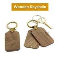 2021 Hot Selling Straps Creative Flip Wood Keychain Blank Magnetic Walnut Keychains With Photo