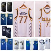 20/21 رجل 77 Luka Dirk Doncic Jason Nowitzki Kidd كرة السلة جيرسي جودة عالية