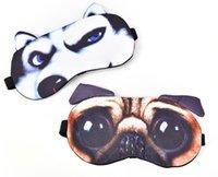 코튼 수면 아이 마스크 3D 동물의 눈 닥스 귀여운 여행 눈 커버 레스트 밴드 보조 눈가리개