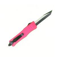 Rosa 7 polegadas 616 mini faca tática automática 440c preto + fio lâmina de desenho lâmina de zinco-alumínio liga de alumínio EDC facas de bolso