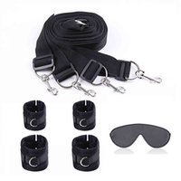 Bundled Sex Toys for Couples BDSM Sex Bondage Tied To the Bed Training Slaves Fetish Erotic SM Tools Adult Sex Games Eye Masks Y0406