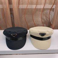 2021 Designer High Quality Flat Top Navy Hat Cappello Donne Coreano Fashion Rete Rosso Stesso Stile Sole Struding Cap in primavera ed estate