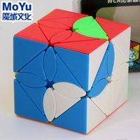 Magic Cube Puzzle Moyu Meilong Skew Cube Ahornblatt Fengye Professionelle Sonderform Cube Pädagogische Twist Weisheit Spiel Spielzeug