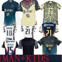 Liga MX 21 22 Club America Soccer Jerseys Green Third Henry Player Version 3rd Giovani Caceres B.Valdez 2021 الصفحة الرئيسية Mailleot Men Kids Kit