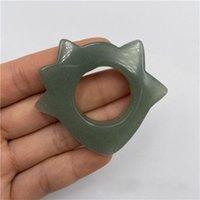 Stones Rocks Gua Sha Massage Ring for Scraping Facial Body Skin Rose Quartz Acupressure Scrapper Tools 914 B3