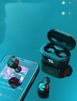 In-Ear Earphones Wireless Bluetooth A6 Bluetooth 5.0 Stereo Headset with Digital Charge Box Wireless