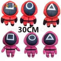 2021 Halloween Gifts New Squid Game Stuffed Plush Doll Toys Korea TV Squids Games Plushies Dolls 30cm Fans Christmas Kids