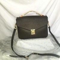 Pochette Métis Femmes Sacs à main Les sacs de luxe de luxe Sacs Sacs de mode Brochebonne véritable cuir brun brun Messenger sac à bandoulière femelle M44875 M44876