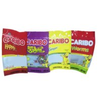 Caribo Worms Edibles 600mg Gummy Mylar Bag Pacote 4 Cores