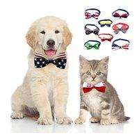 Mode Haustierhundkatze Kragen Amerikanische Flagge Druck Halskette für kleine und mittlere Pentagram-Pflegezubehör Kleid