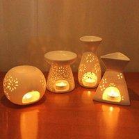 Torby saszetkowe ceramiczne rzemiosło aromatyczny palnik handmade pusty kwiat wzór olejek świeca lampa wiele styl wystrój domu