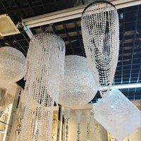 Faixas 10m 30m decoração de casamento octogonal grânulos de cristal de cristal cortina iridescente festão ardente shimmer cortinas festa